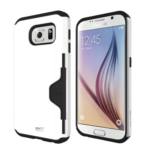 MTT Dual Layer Credit Card Holder for Samsung Galaxy S6 - White