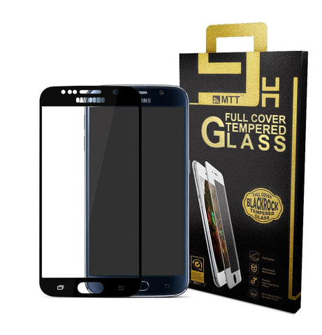MTT Samsung Galaxy S6 Full Cover Premium Tempered Glass (Black)