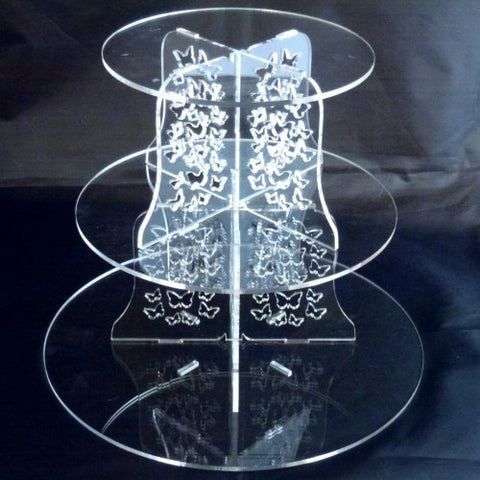 Round Butterflies Design Multi Tier Cake Stand