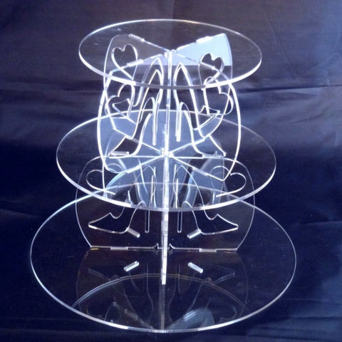 Round High Heels Design Multi Tier Cake Stand