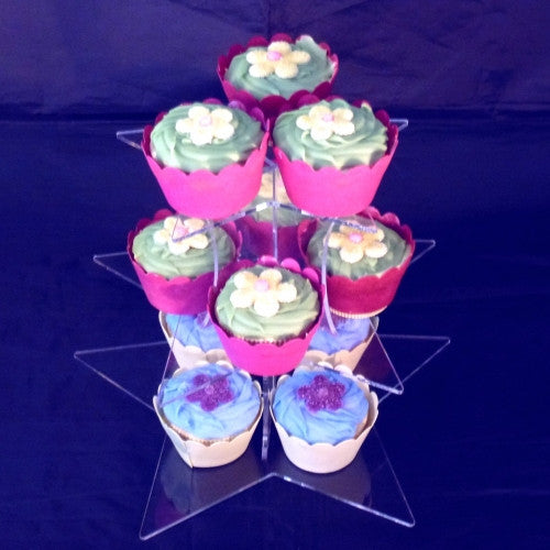 Star Shaped Design Multi Tier Cake Stand