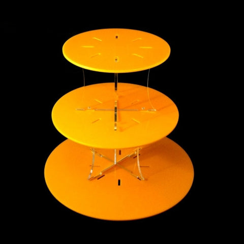 Round Yellow Design Multi Tier Cake Stand