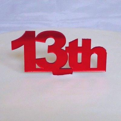 13th birthday cake topper supercoolcreations for mirrors cake