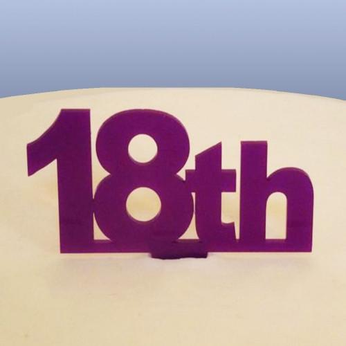 18th Birthday Cake Topper