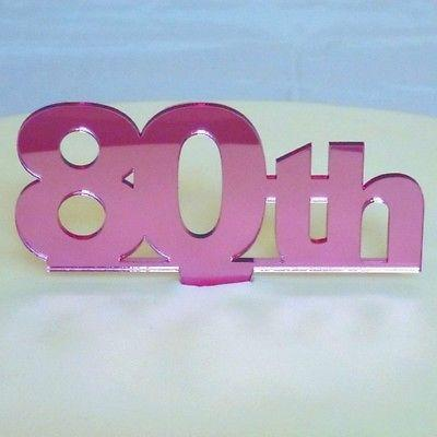80th Birthday Cake Topper SuperCoolCreations for mirrors cake