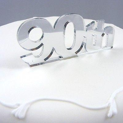 90th Birthday Cake Topper