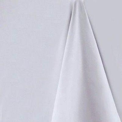 Light Grey Round Tablecloth