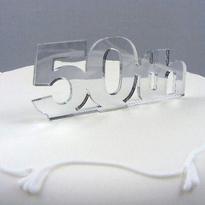 Enjoyable 50Th Birthday Cake Topper Supercoolcreations Funny Birthday Cards Online Alyptdamsfinfo