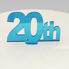 20th Birthday Cake Topper