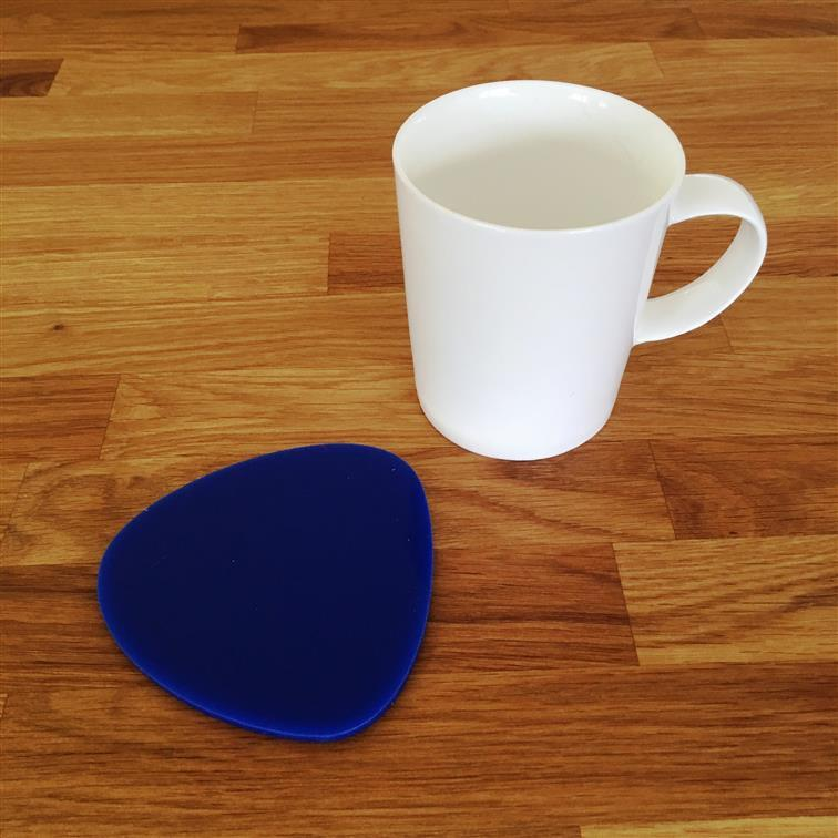 Pebble Shaped Coaster Set - Blue