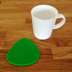Pebble Shaped Coaster Set - Bright Green