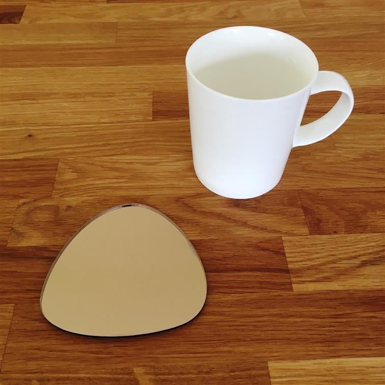 Pebble Shaped Coaster Set - Bronze Mirror