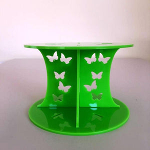 Butterfly Design Round Wedding/Party Cake Separator - Lime Green
