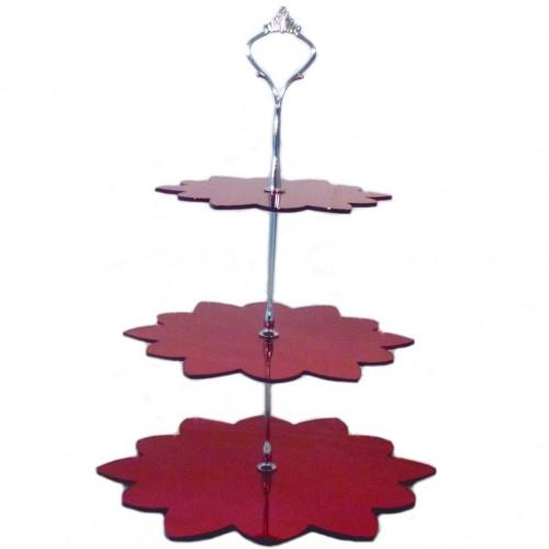 Three Tier Flower Cake Stand