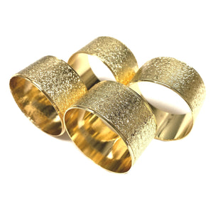 Gold Textured Napkin Rings