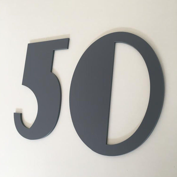 House Numbers & Letters Flat Finish - Art Deco