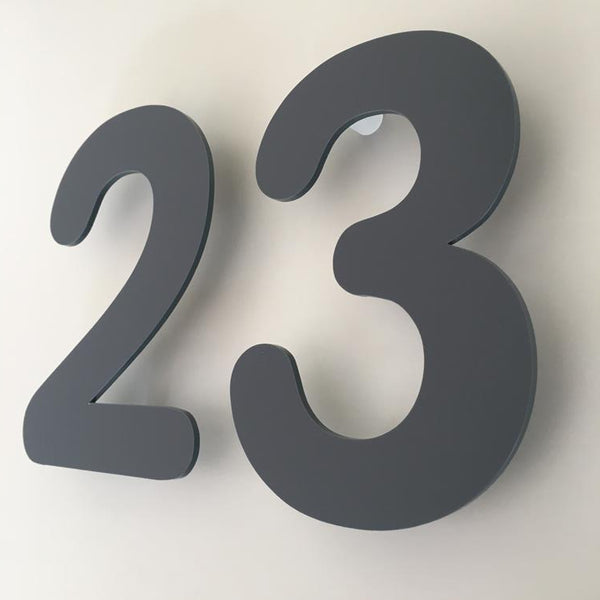 Floating House Numbers & Letters - Rounded