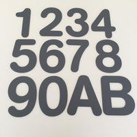 House Numbers & Letters Flat Finish - Rounded