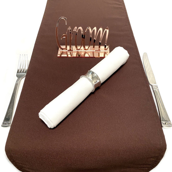 Mocha Brown Table Runner