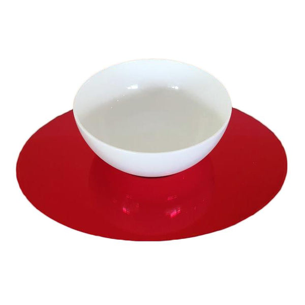 Oval Placemat Set - Red
