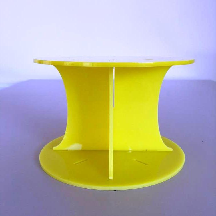 Classic Round Wedding/Party Cake Separator - Yellow