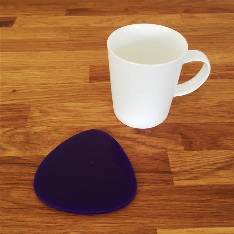 Pebble Shaped Coaster Set - Purple