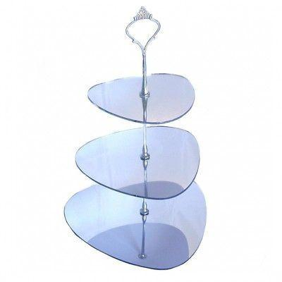 Two Tier Pebble Cake Stand