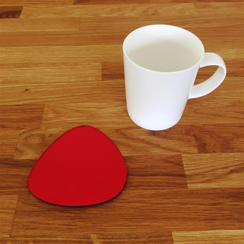 Pebble Shaped Coaster Set - Red Mirror