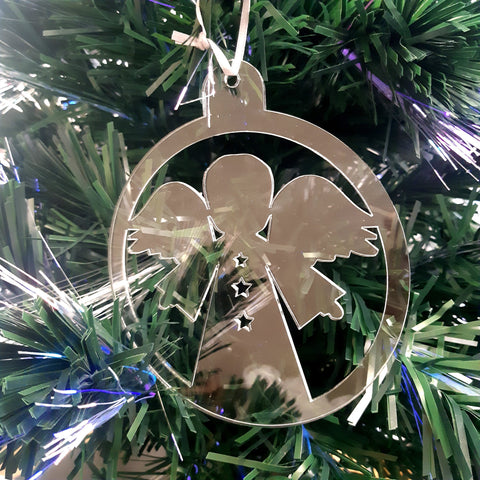 Round Angel Christmas Tree Decorations