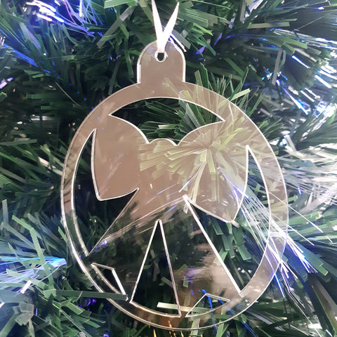 Round Bow Christmas Tree Decorations