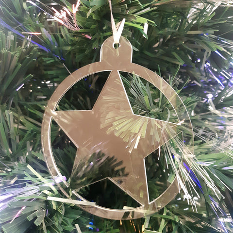 Round Star Christmas Tree Decorations