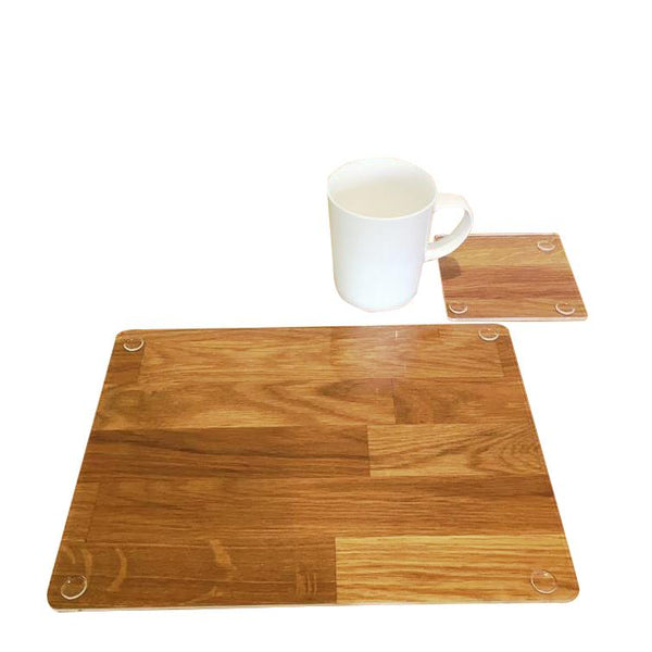Rectangular Placemat and Coaster Set - Clear