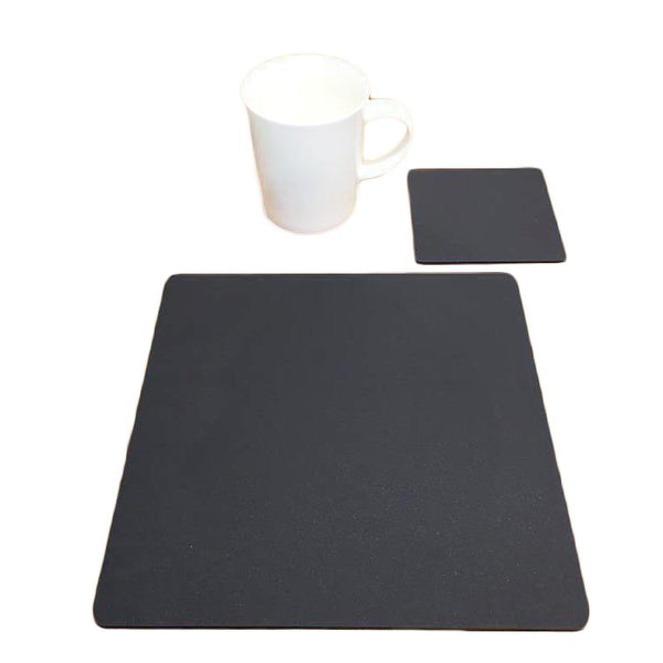 Square Placemat and Coaster Set - Graphite Grey