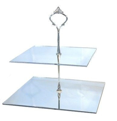 Two Tier Square Cake Stand