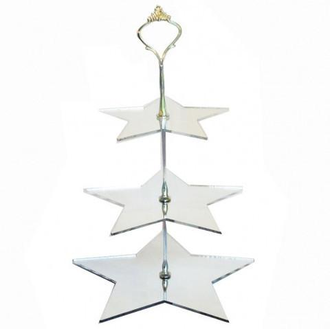 Two Tier Star Cake Stand