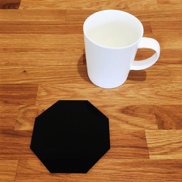 Octagonal Coaster Set - Black