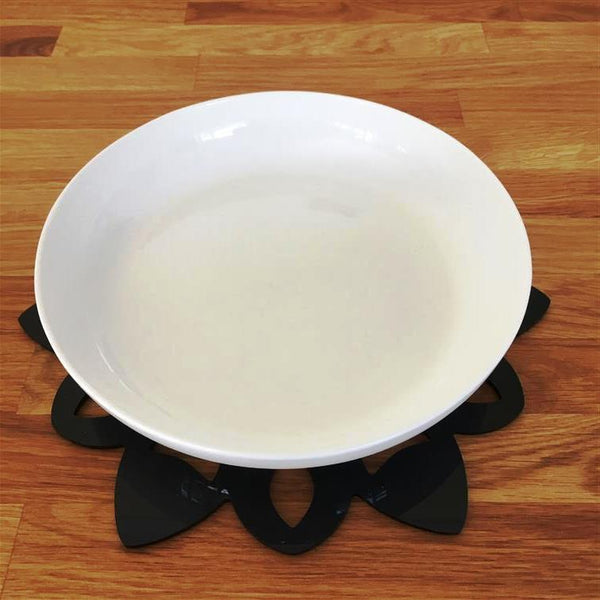 Snowflake Shaped Placemat Set - Black