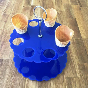 Ice Cream Cone Stand - Blue