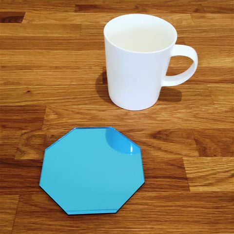 Octagonal Coaster Set - Blue Mirror