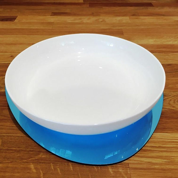 Pebble Shaped Placemat Set - Blue Mirror