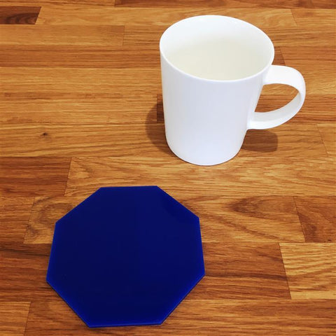 Octagonal Coaster Set - Blue