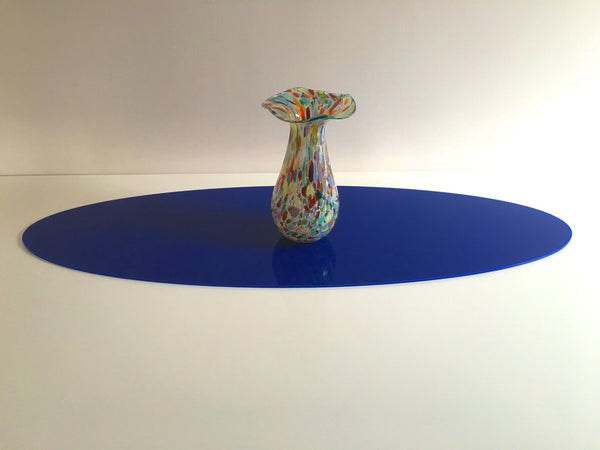 Blue Oval Acrylic Table Runner