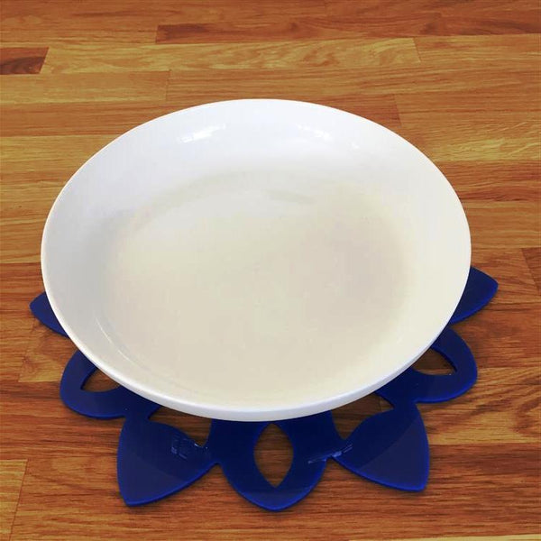 Snowflake Shaped Placemat Set - Blue