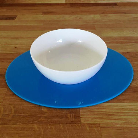 Oval Placemat Set - Bright Blue