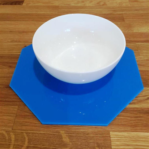 Octagonal Placemat Set - Bright Blue