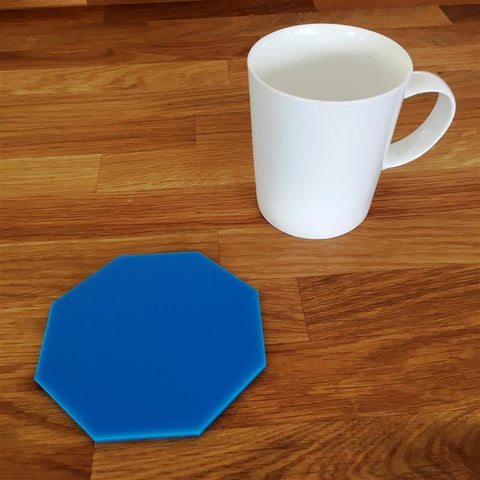 Octagonal Coaster Set - Bright Blue