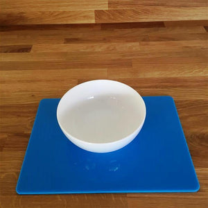 Rectangular Placemat Set - Bright Blue