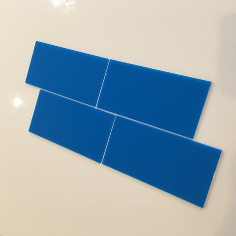 Rectangular Tiles - Bright Blue