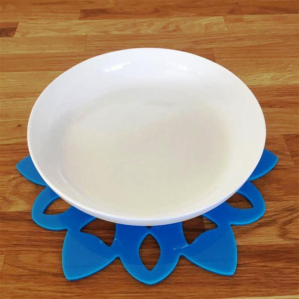 Snowflake Shaped Placemat Set - Bright Blue