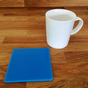 Square Coaster Set - Bright Blue